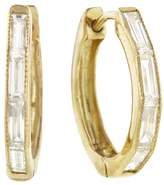 Sethi Couture Baguette Diamond Hoop - Yellow Gold