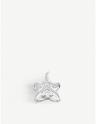 Thomas Sabo Starfish sterling silver and zirconia ring