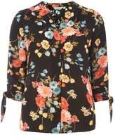 Dorothy Perkins Petite Multicoloured Floral Print Tie Sleeve Shirt