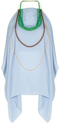 Jacquemus Bead-Embellished Halterneck Top