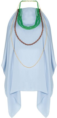 Jacquemus bead necklace halter-neck top