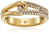 Kate Spade Pave Loop Clear/Gold Ring, Size 6