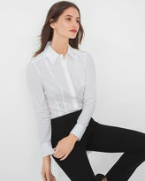 White House Black Market White Poplin Shirt