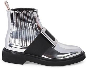 Roger Vivier Viv Rangers Metallic Chelsea Boots