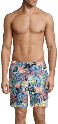 Original Penguin Tropical Floral Stretch-Cotton Swim Shorts