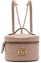 Gucci Gg Marmont Mini Leather Backpack - Womens - Nude