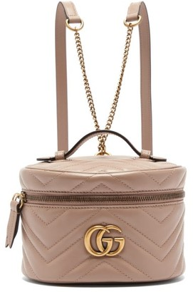 Gucci GG Marmont Mini Leather Backpack - Nude