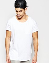 Selected Homme Oversized Scoop Neck T-shirt