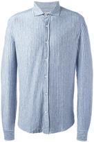 Brunello Cucinelli striped shirt - men - Linen/Flax/Spandex/Elastane - M