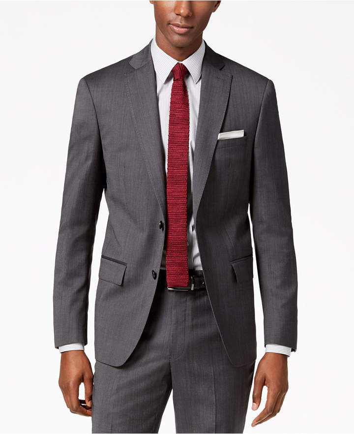 DKNY Men Modern-Fit Stretch Textured Suit Jacket