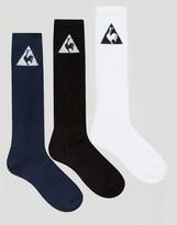 Le Coq Sportif 3 Pack Logo Crew Socks