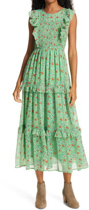 Banjanan Iris Smocked Bodice Cotton Maxi Dress