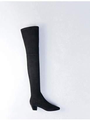 Maje Stretch Velvet Goat Leather Thigh Boots