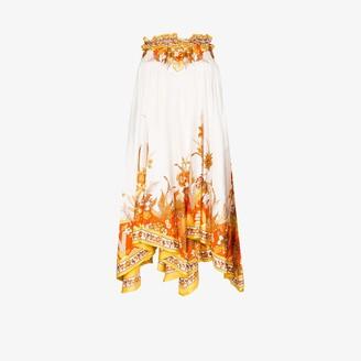 Zimmermann Brightside silk midi skirt
