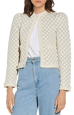 Sandro Hamy Quilted Cardigan
