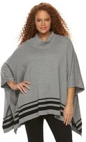 Croft & Barrow Plus Size Cowlneck Poncho Sweater