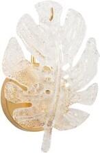 Chelsea House Glass Leaf 1-Light Armed Sconce