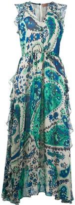 Twin-Set Ruffled Paisley-Print Dress