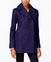 Kenneth Cole Petite Double-Breasted Peacoat, Only at Macy's