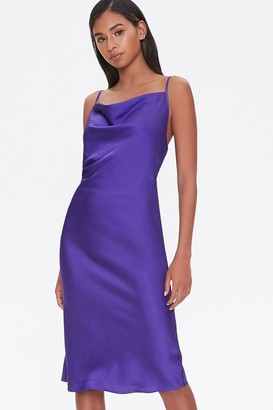 Forever 21 Satin Cowl Slip Dress