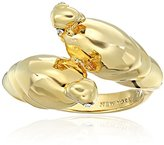 """Kate Spade Parrot Ring"""" Clear/Gold-Tone Ring, Size 7"""