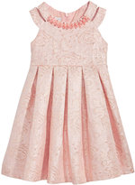 Bonnie Jean Pearl-Trim Jacquard Dress, Little Girls (4-6X)