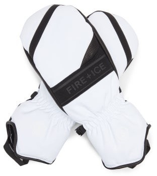 Bogner Fire & Ice Palina Leather-trimmed Ski Gloves - White Black