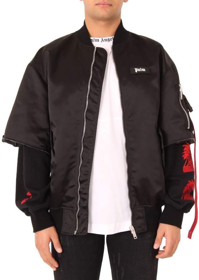Palm Angels Black Prayer Bomber Jacket