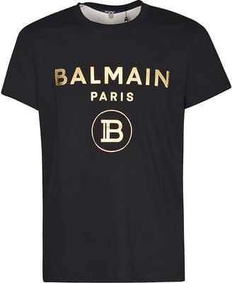 Balmain Metallic Logo T-shirt