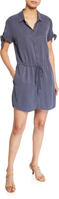 Paige Avery Short-Sleeve Shirtdress