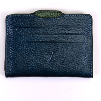 Atelier Hiva Double Card Holder Metallic Navy & Metallic Green