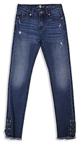 7 For All Mankind Girls' Laced Skinny Jeans - Big Kid