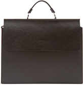NOSAKHARI Soufflet leather briefcase