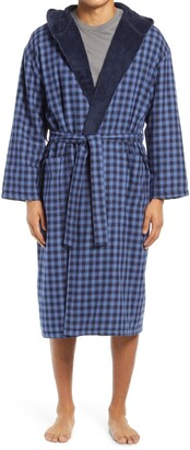 Majestic International Plush Flannel Hooded Robe