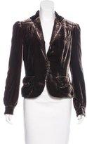 Marc Jacobs Long Sleeve Velvet Blazer