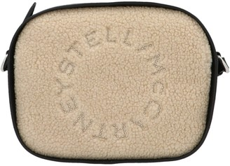 Stella McCartney Logo Shearling Camera Bag