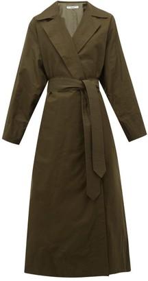 Katharine Hamnett Lola Oversized Cotton-blend Trench Coat - Womens - Khaki