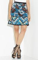 Herve Leger Amery Tribal Jacquard Flounce Skirt