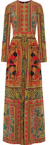 Etro Printed Silk-Crepe Gown