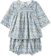 Petit Bateau Printed dress and matching bloomers