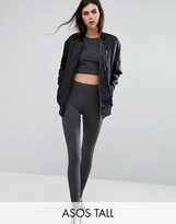 ASOS Tall ASOS TALL High Waisted Leggings In Charcoal Marl