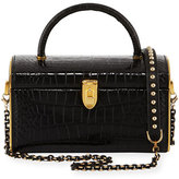 Judith Leiber Couture Train Case Embossed Crossbody Clutch Bag