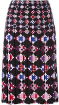 Emilio Pucci geometric print pleated skirt - women - Viscose - 38