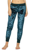 Jezebel Women's Pajamas: Flora Crushed Velvet Jogger Pants