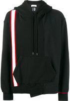 Facetasm striped long sleeve hoodie