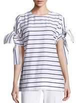 Aquilano Rimondi Striped Tie Top