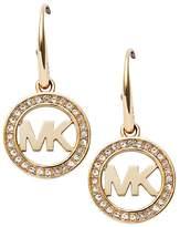 Michael Kors Pavé Logo Earrings