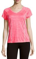 Reebok Space-Dye Raglan-Sleeve Top
