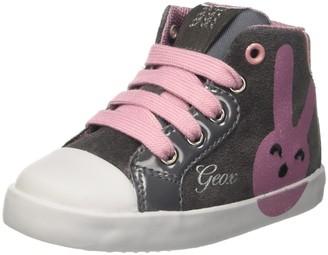 Geox Baby Girls B Kilwi Girl Low-Top Sneakers - Grey (Dk Grey/Pink) 3.5 UK 3.5UK Child