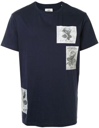 Kent & Curwen rose-print crew neck T-Shirt